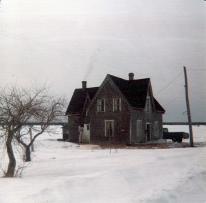 Black River house winter
